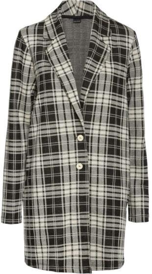 Átmeneti női kockás kabát