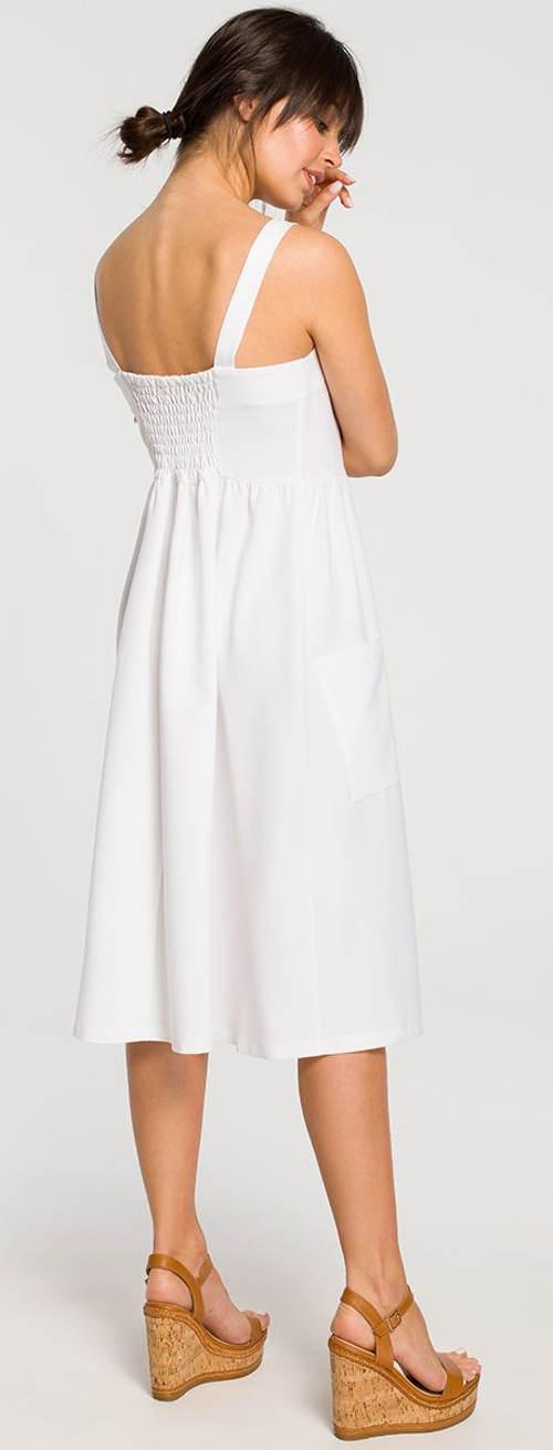 Fekete-fehér fehér ruha nyárra