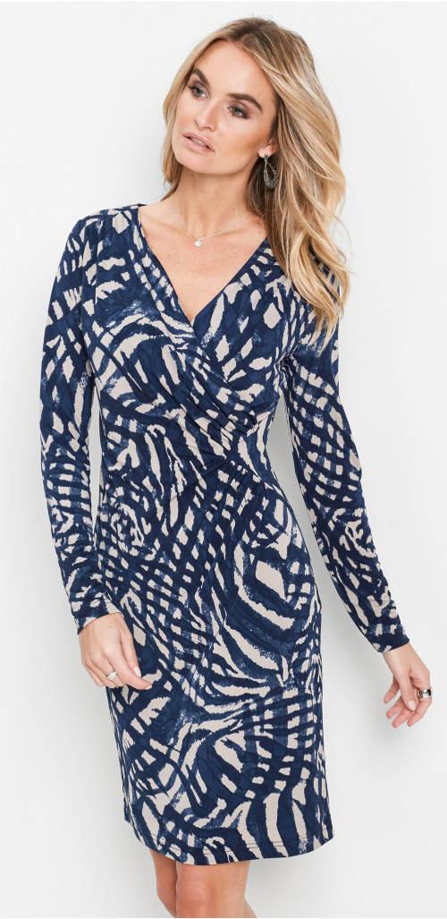 Kék-bézs színű pakolás ruha
