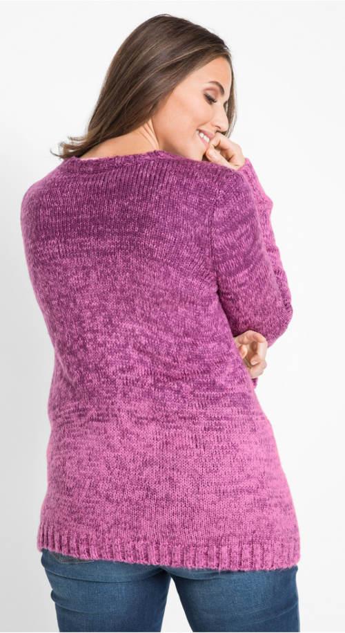 Lila meleg női pulóver