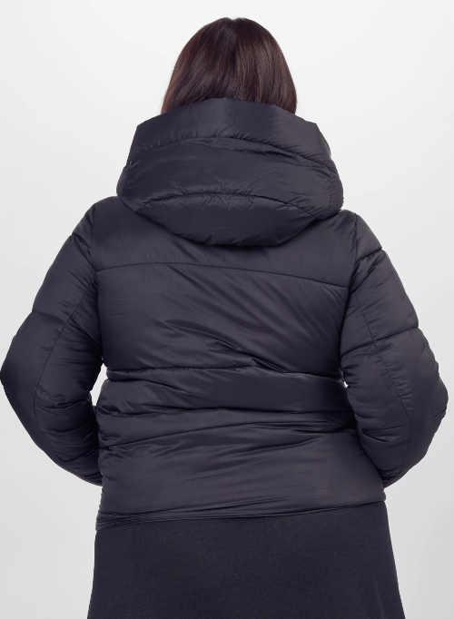 Olcsó fekete téli dzseki plusz mérethez