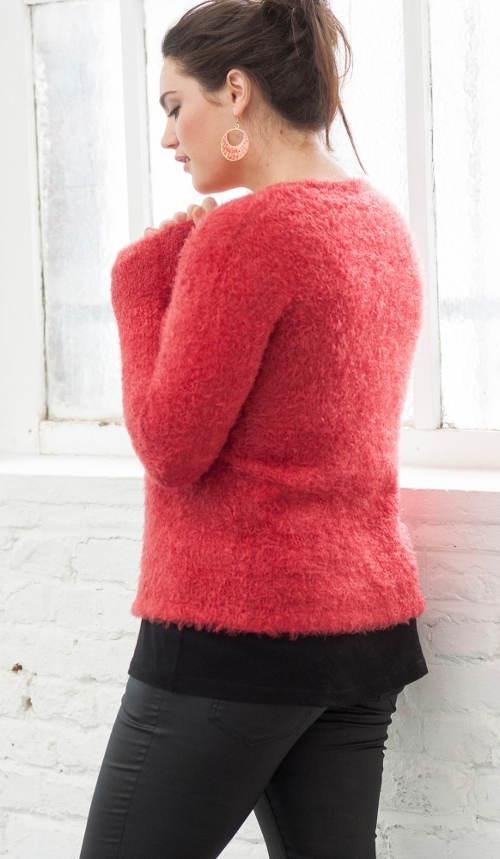 Puha női téli pulóver