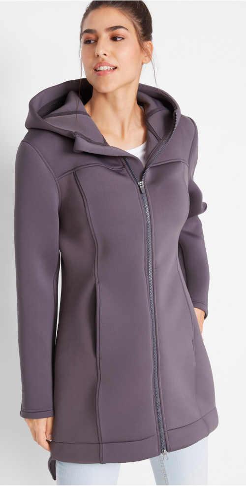 Egyszínű női funkcionális kabát