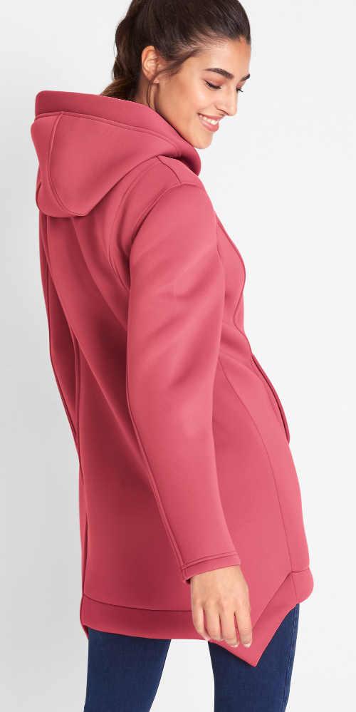 Rózsaszín női szabadtéri kabát