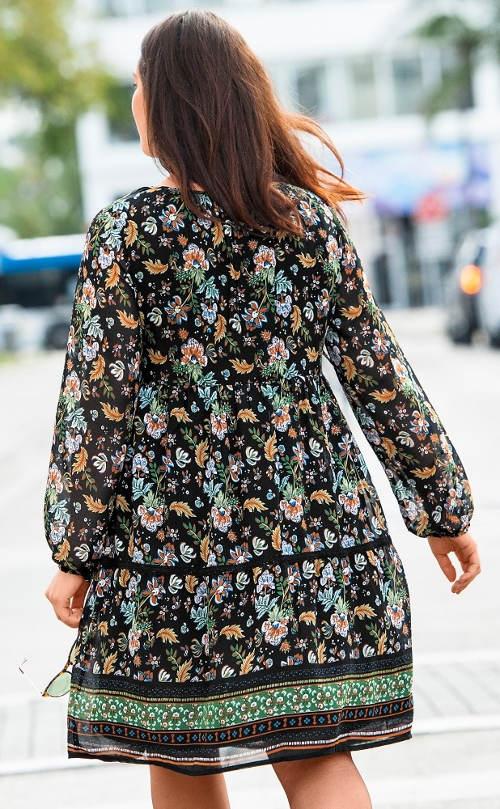 Virágos boho ruha plusz mérethez