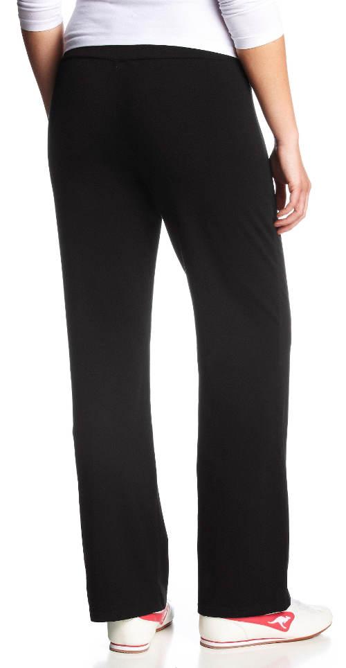 Kényelmes női fekete nadrág