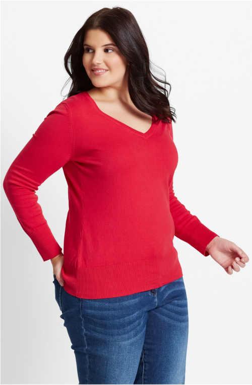 Könnyebb rugós pulóver a plusz mérethez