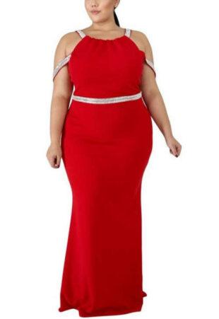 Női hivatalos ruha bűnösen csábító vörös színben