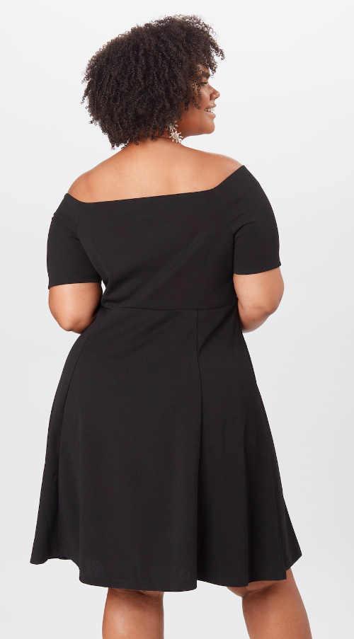Modern ruha fekete színben