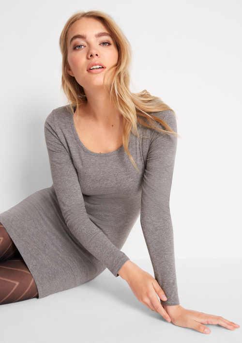 Olcsó szürke pamut női ruha Bonprix