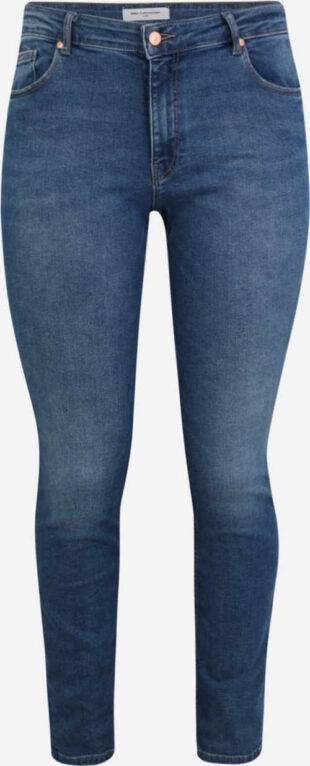 Plus size nadrág kék mosott farmerből