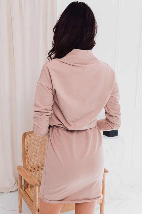Bézs színű ruha rövid hosszúságban