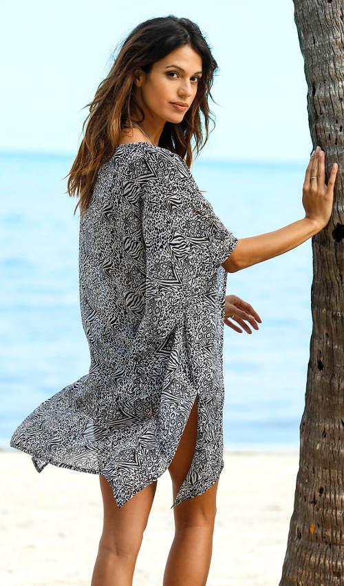 Fekete-fehér strandruha