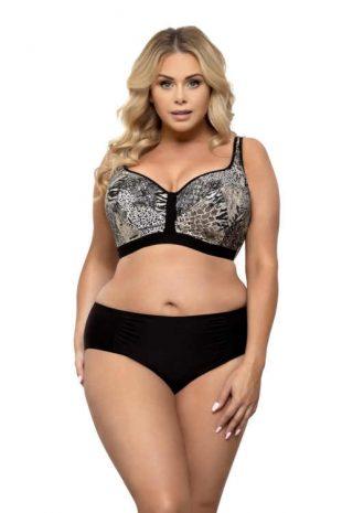 Luxus női mintás bikini áramvonalas szabással plus size méretben.