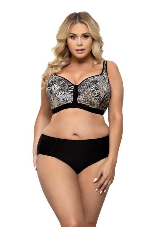Luxus női mintás bikini áramvonalas szabással plus size méretben