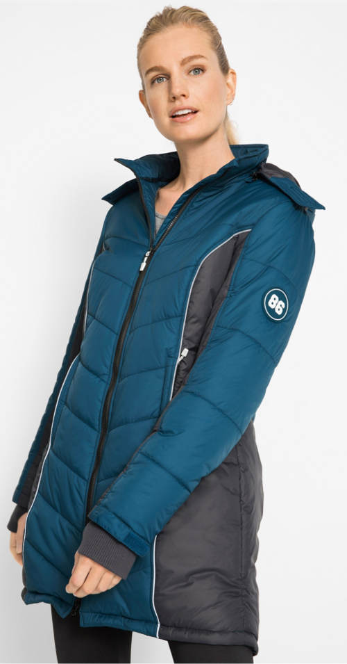 Női funkcionális téli steppelt kabát