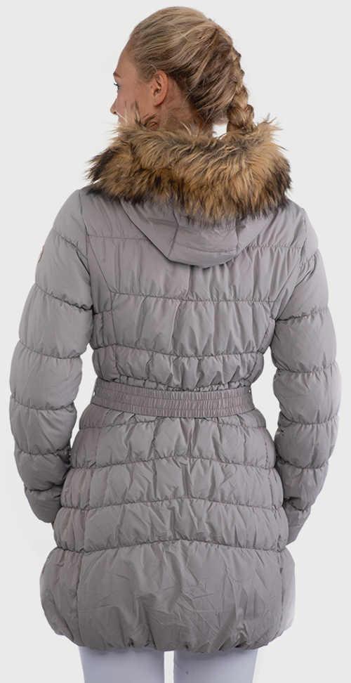 Női meghosszabbított téli kabát derékszíjjal
