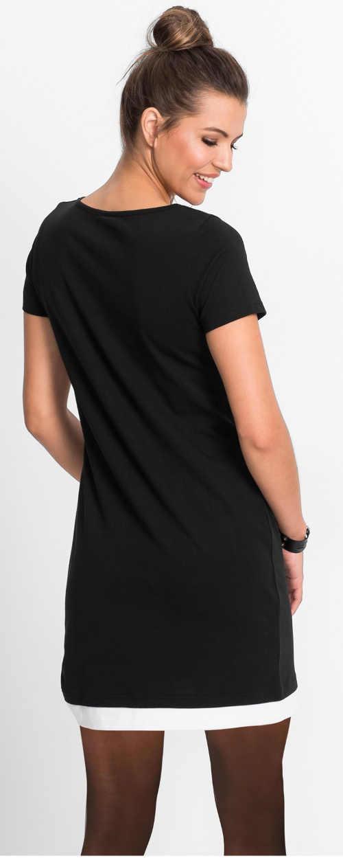 Nyári fekete-fehér pólós miniruha