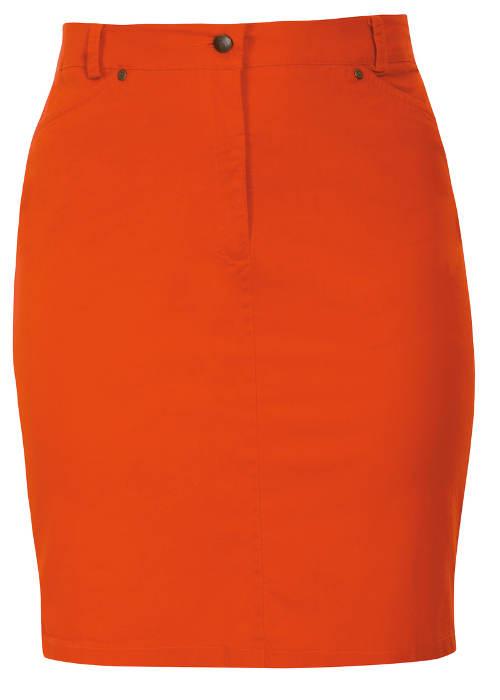 Túlméretezett narancssárga nyári szoknya