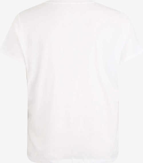 XXL női fehér rövid ujjú póló rövid ujjal