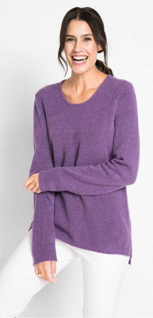 Bolyhos gyapjú női pulóver