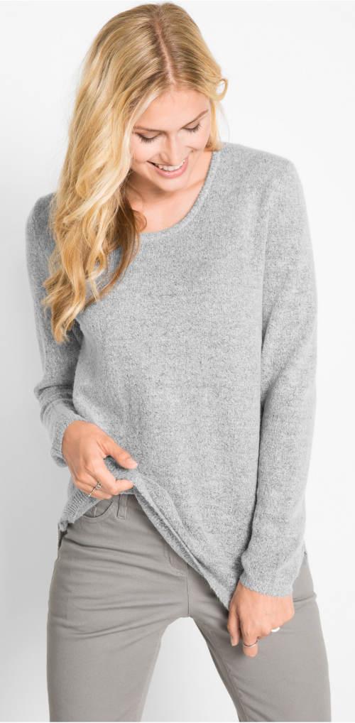 Ezüst női pulóver
