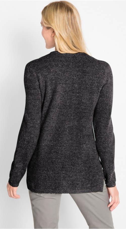 Fekete csillogó pulóver