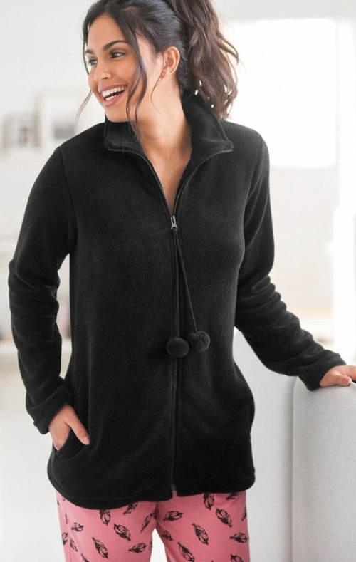 Fleece kapucnis kabát plusz mérethez