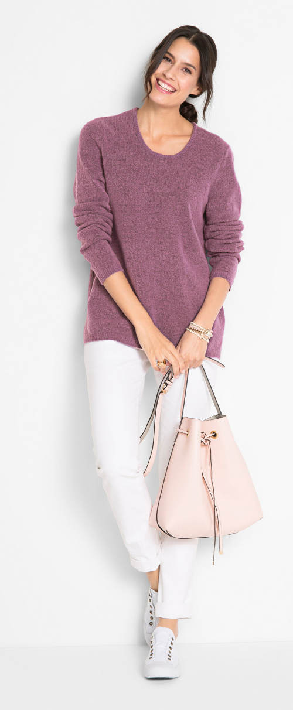 Lila női fleece pulóver