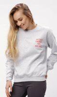 Női oversize pulóver nyomtatással