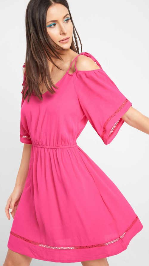 Rózsaszín Orsay nyári ruha szabadon hagyott vállakkal