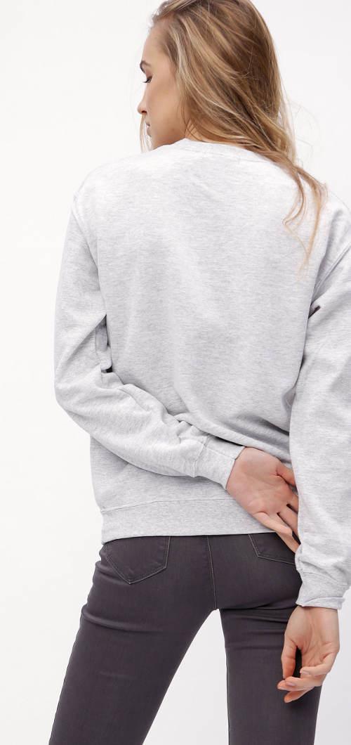 Világosszürke női pulóver