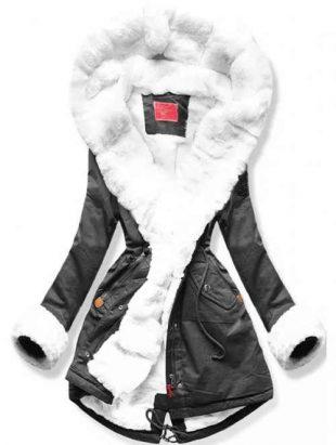 XXL téli parka belső szőrmebundával